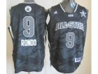2013 nba all star boston celtics #9 rondo grey jerseys