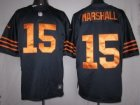 Nike Chicago Bears #15 Marshall Dark Blue-Yellow[LIMITED]Jerseys