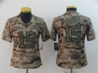 Nike Chiefs #15 Patrick Mahomes Camo Women Salute To Service Limited Jersey