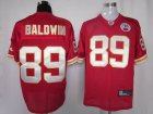nfl san francisco 49ers #89 baldwin red
