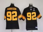 Steelers #92 James Harrison Super Bowl XLV black[yellow number]