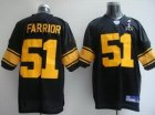 Steelers #51 James Farrior Super Bowl XLV black[Yellow Number]