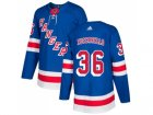 Men Adidas New York Rangers #36 Mats Zuccarello Royal Blue Home Authentic Stitched NHL Jersey