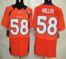 Nike Broncos #58 Von Miller Orange With Hall of Fame 50th Patch NFL Elite Jersey