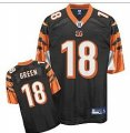 nfl cincinnati bengals #18 green black(2011 new player)