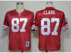 nfl jerseys san francisco 49ers #87 clark m&n red
