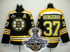 nhl boston bruins #37 bergeron black[2011 stanley cup champions]