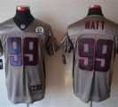Nike Texans #99 J.J. Watt Grey Shadow With Hall of Fame 50th Patch NFL Elite Jersey