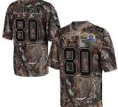 Nike Texans #80 Andre Johnson Camo With Hall of Fame 50th Patch NFL Elite Jersey