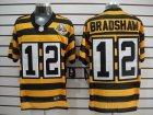 Nike NFL pittsburgh steelers #12 bradshaw throwback yellow-black(team 80 anniversary)