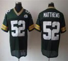 Nike Packers #52 Clay Matthews Green With Hall of Fame 50th Patch NFL Elite Jersey