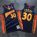 Warriors #30 Stephen Curry Navy 2009-10 Hardwood Classics Jersey