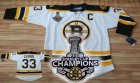 nhl boston bruins #33 chara white[2011 stanley cup champions]