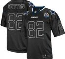 Nike Cowboys #82 Jason Witten Lights Out Black With Hall of Fame 50th Patch NFL Elite Jersey