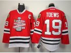 NHL chicago blackhawks #19 toews red[new 2013 Stanley cup champions][patch C]