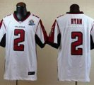 Nike Falcons #2 Matt Ryan White With Hall of Fame 50th Patch NFL Elite Jersey