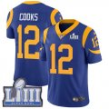 Nike Rams #12 Brandin Cooks Royal 2019 Super Bowl LIII Vapor Untouchable Limited Jersey