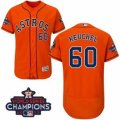 Astros #60 Dallas Keuchel Orange Flexbase Authentic Collection 2017 World Series Champions Stitched MLB Jersey