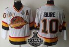 nhl vancouver canucks #10 bure m&n white[2011 stanley cup]