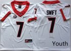 Georgia Bulldogs #7 D'Andre Swift White Youth Nike College Football Jersey