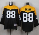 Mitchell And Ness 1967 Pittsburgh Steelers #88 Lynn Swann Black Yelllow Throwback Men Stitched NFL Jersey
