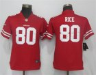 Nike 49ers #80 Jerry Rice Red Women Vapor Untouchable Player Limited Jersey