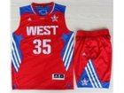 2013 All-Star Western Conference Oklahoma City Thunder #35 Kevin Durant Red(Revolution 30 Swingman)Suits