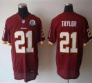 Nike Redskins #21 Sean Taylor Red With Hall of Fame 50th Patch NFL Elite Jersey
