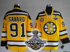 nhl boston bruins #91 savard yellow[2011 stanley cup champions]