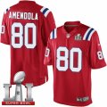 Youth Nike New England Patriots #80 Danny Amendola Elite Red Alternate Super Bowl LI 51 NFL Jersey