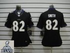 2013 Super Bowl XLVII Youth NEW NFL Baltimore Ravens 82 Torrey Smith Black Jerseys(Youth Limited)