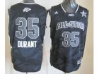 2013 nba all star oklahoma city thunder #35 kevin durant grey jerseys