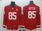 Nike 49ers #85 George Kittle Red Therma Long Sleeve Jersey