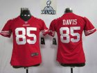 2013 Super Bowl XLVII Women NEW san francisco 49ers #85 davis red(women new)