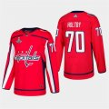 Capitals #70 Braden Holtby Red 2018 Stanley Cup Champions Adidas Jersey