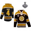 nhl jerseys boston bruins #4 orr black-yellow[pullover hooded sweatshirt patch A][2013 stanley cup]