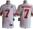 Nike 49ers #7 Colin Kaepernick White With Hall of Fame 50th Patch NFL Elite Jersey