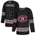 Canadiens #19 Larry Robinson Black Team Logos Fashion Adidas Jersey