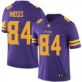 Nike Vikings #84 Randy Moss Purple Color Rush Limited Jersey