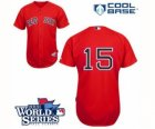 2013 world series mlb jerseys boston red sox #15 dustin pedroia red
