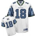 nfl Seattle Seahawks #18 Sidney Rice white[kids]