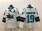 Sharks #19 Joe Thornton White Adidas Jersey