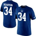 Nike Indianapolis Colts #34 Richardson Pride Name & Number T-Shirt blue