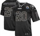 Nike Raiders #20 Darren McFadden New Lights Out Black With Hall of Fame 50th Patch NFL Elite Jersey
