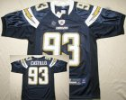 nfl San Diego Chargers #93 Castillo dk,blue