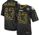 Nike Steelers #43 Troy Polamalu Black(Camo Number) With Hall of Fame 50th Patch NFL Elite Jersey