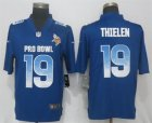 Nike NFC Vikings #19 Adam Thielen Royal 2019 Pro Bowl Limited Jersey