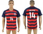 USA 14 WILLIAMS 2017 CONCACAF Gold Cup Away Thailand Soccer Jersey
