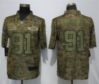 Nike Redskins #91 Ryan Kerrigan Camo Salute To Service Limited Jersey