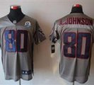 Nike Texans #80 Andre Johnson Grey Shadow With Hall of Fame 50th Patch NFL Elite Jersey